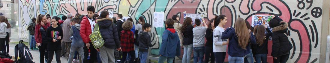 street Art interazione fra operatori e studenti